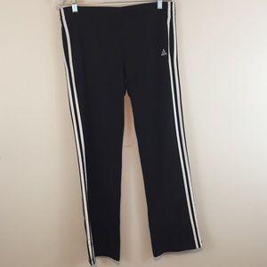 Classic Adidas Black/White Track Pants Size S